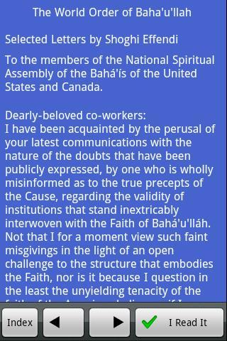 The World Order of Baha'u'llah