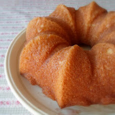 A Simple Butter Cake with Lemon Grass Syrup