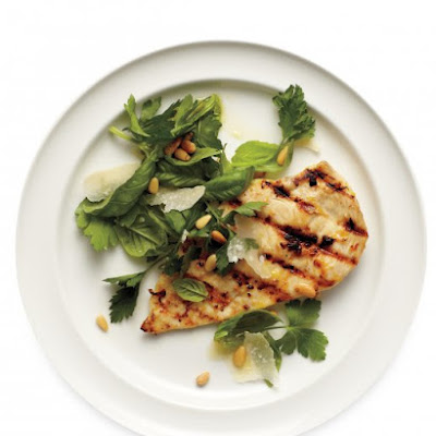 Lemon Chicken with Herb Salad