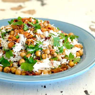 Fragrant Chickpea Rice Pilaf