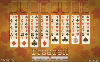 Screenshot of Fall Solitaire FREE