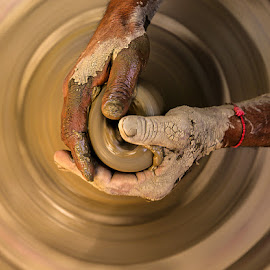 Making of clay pottery... by Rakesh Syal - Artistic Objects Other Objects