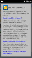 Screenshot of File Hide Expert