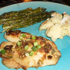 Baked Sole and Roasted Asparagus With Sesame