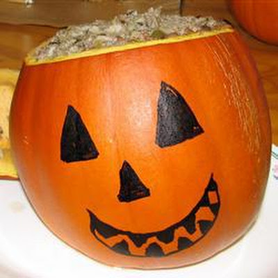 Meat and Rice Stuffed Pumpkin