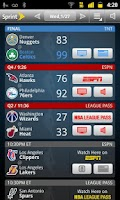 Screenshot of Sprint NBA Mobile