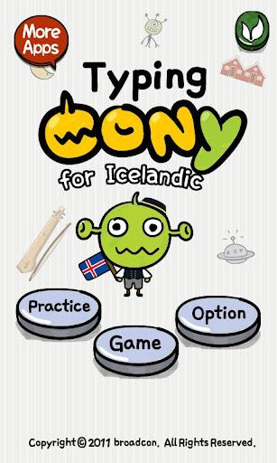 [B]TypingCONy for Icelandic