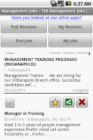 Screenshot of Management Jobs