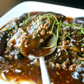 Braised Eggplant With Pork in Sichuan Sauce
