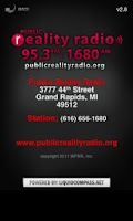 Screenshot of Public Reality Radio