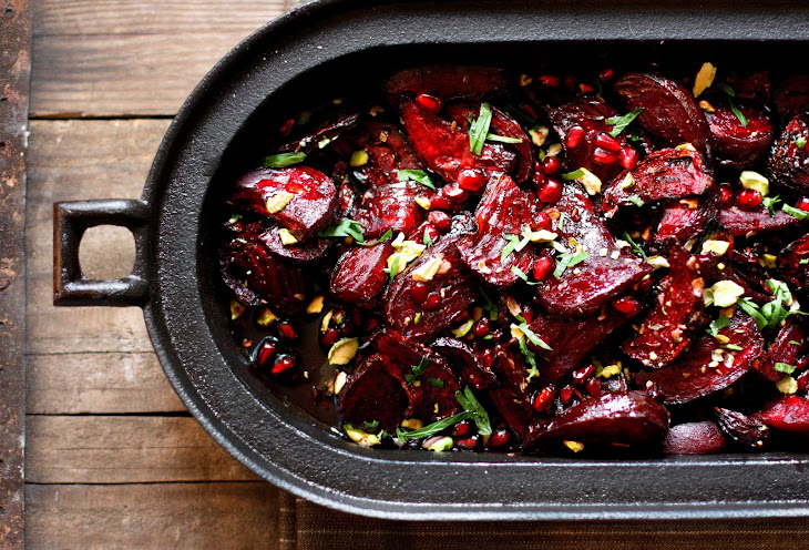 Moroccan Roasted Beets with Pomegranate and Balsamic Glaze Recipe ...