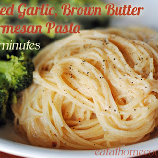 Roasted Garlic, Brown Butter and Parmesan Pasta (in 15 Minutes)