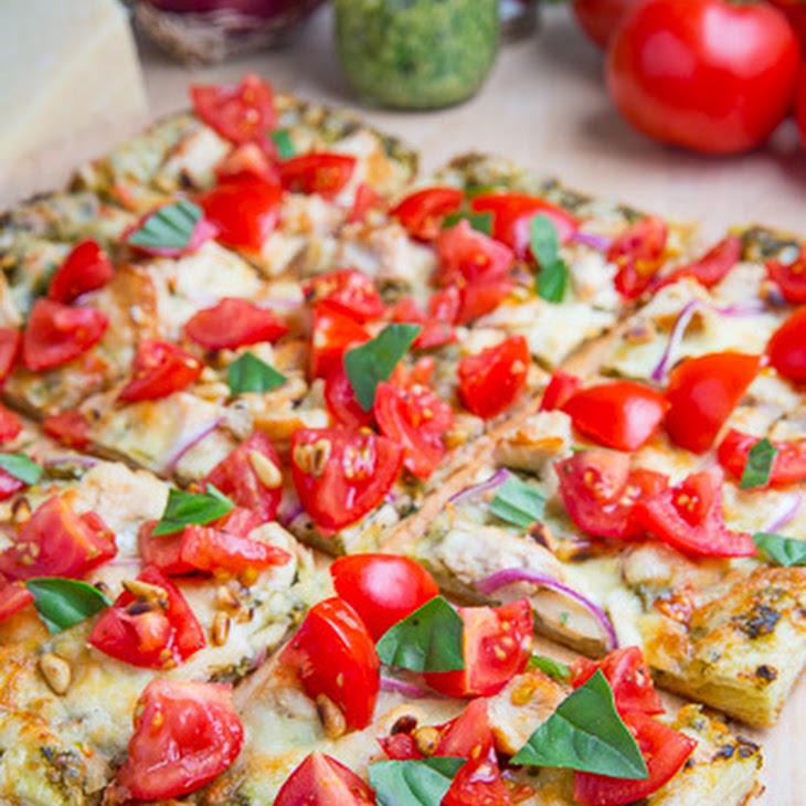 Bruschetta Chicken Pesto Tart Recipe | Yummly