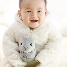 Happy with a new doll by Darlis Herumurti - Babies & Children Babies
