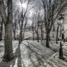 Montmarte by Ben Hodges - City,  Street & Park  City Parks ( paris, hdr, park, montmartre, france, shadows )