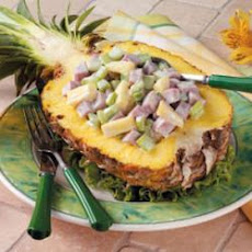 Ham Salad Pineapple Boats
