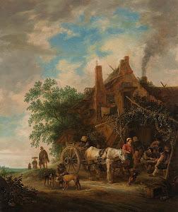 RIJKS: Isaac van Ostade: painting 1649