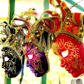 Masks by Preeti Kanwar - Artistic Objects Clothing & Accessories ( still life, art, masks, venice, people )