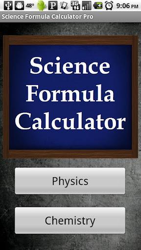 Science Formula Calculator Pro