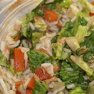 Romaine Rice Tuna Salad