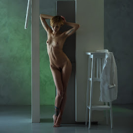 Irina  by Dmitry Laudin - Nudes & Boudoir Artistic Nude ( studio, model, nude, girl, light, posing )