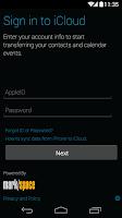 Screenshot of Motorola Migrate