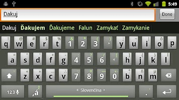 Screenshot of Slovak Keyboard Plugin