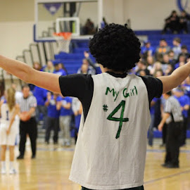 The Biggest Fan! by Lana Owens - Sports & Fitness Basketball ( basketball, mascot, cheering people, game, fan )