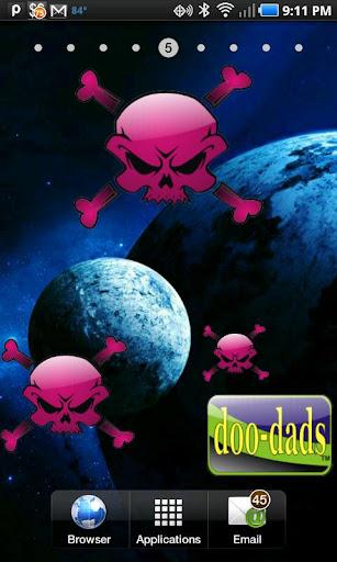 Skull Bones pink doo-dad