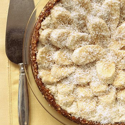 Banana, Coconut, and Cashew-Cream Tart