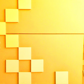 Squared by Elaine Baylon - Artistic Objects Other Objects ( abstract yellow )