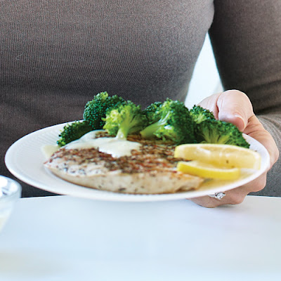 Grilled Chicken with Broccoli Florets