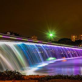 SaiGon- Vietnam by Lâm Lê - City,  Street & Park  Night