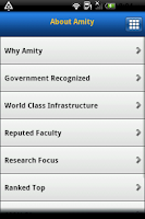 Screenshot of Amity University
