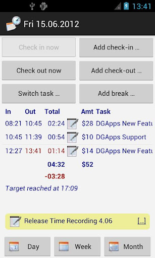 time-recording-timesheet-app for android screenshot