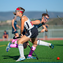 Wrong way....I just changed directions on you. by Kevin Mummau - Sports & Fitness Other Sports ( breast cancer, high school, girls sports, pink, field hockey )