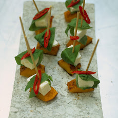 Mozzarella & Squash Skewers