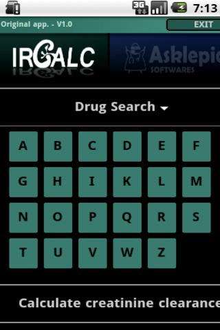 IRCALC - Drug dosage in RF