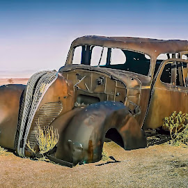 Graveyard by Johan Jooste Snr - Transportation Automobiles ( body, old car, vintage, namibia, abandoned )