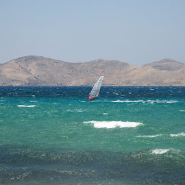Windsurfer by Mezei  József Tibor (MJ) - Sports & Fitness Watersports ( surfing, nature, blue, green, art, summer, sea, surer, photo )