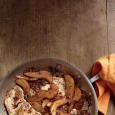 Turkey Cutlets with Balsamic Pears