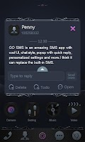 Screenshot of GO SMS BLACK WHIRLWIND THEME