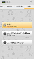 Screenshot of Clinicians Drug Reference 2011