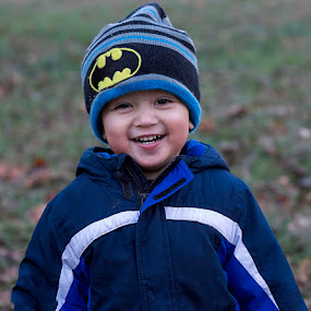 Batman! by Lynda Blair - Babies & Children Children Candids ( child, batman, boy, smiling )