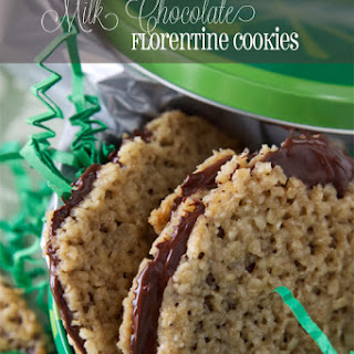 Milk Chocolate Florentine Cookies