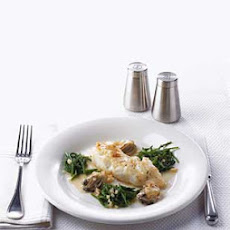 Black Roasted Cod with Sea Beans and Oysters