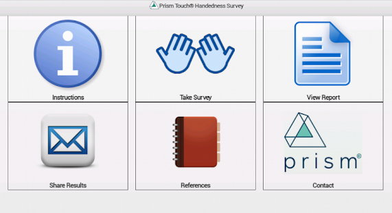 Prism Touch Handedness Survey - screenshot