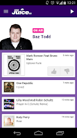 Screenshot of Juice FM Radio, Liverpool