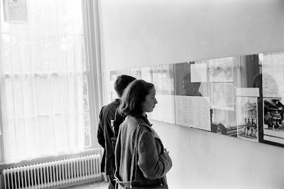 A group of American students from Scarsdale visits the Anne Frank House in 1961.