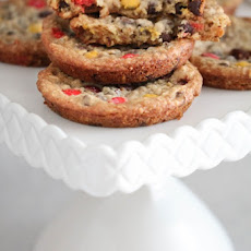 Butterscotch Oatmeal M&M Cookies